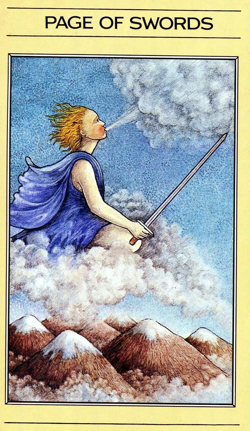 Mythic Tarot Page of Swords | Page of swords, Tarot, Tarot cards