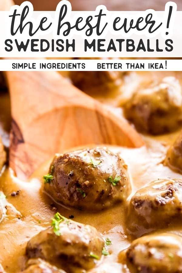 Easy Swedish Meatballs are homemade meatballs in a rich brown gravy sauce. They're simple to make and taste delicious better than IKEA! Try them for dinner with mashed potatoes or egg noodles tonight! |
