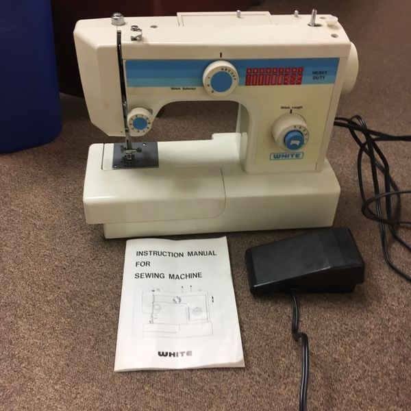 White Heavy Duty Sewing Machine Model 40 Good Condition With Impressive White Heavy Duty Sewing Machine
