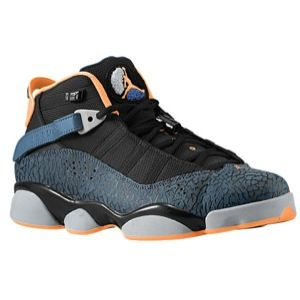 a84c45e7808969 Jordan 6 Rings - Men s - Black Atomic Orange New Slate Wolf Grey ...