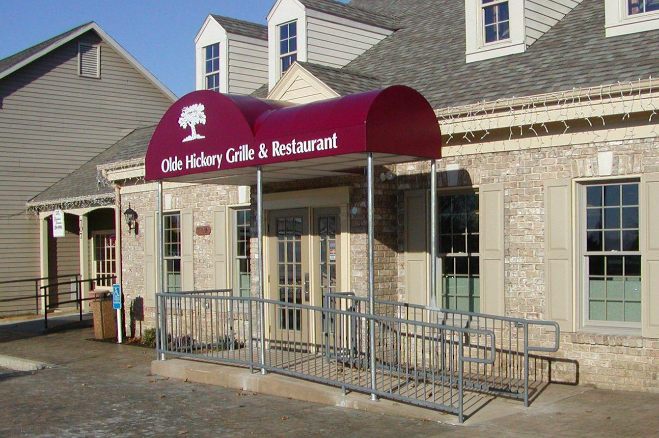 Old Hickory Grille Restaurant Backlit Entrance Canopy Kreider S Canvas Service Inc Grilles Entrance Old Hickory