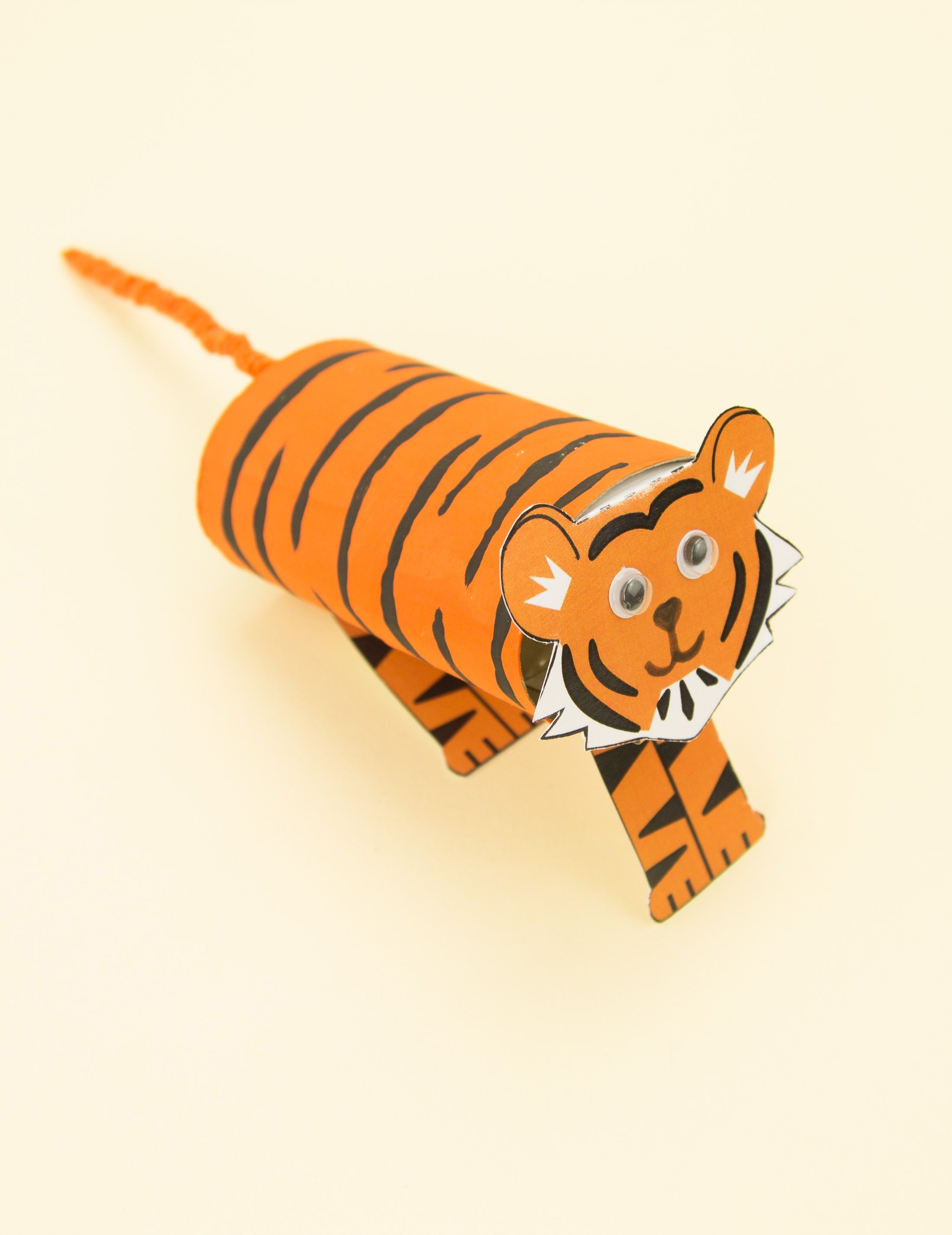 This Cardboard Tube Tiger Craft Is Ideal For Your Chinese New Year Art And Craft Lessons