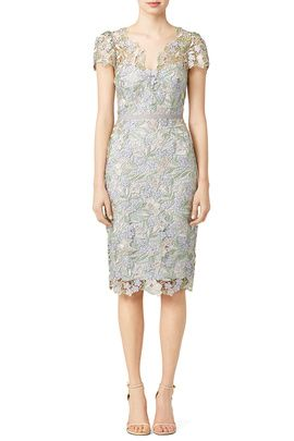 cdec28f2654 Ice Bell Bloom Sheath by Marchesa Notte Floral Bridesmaid Dresses
