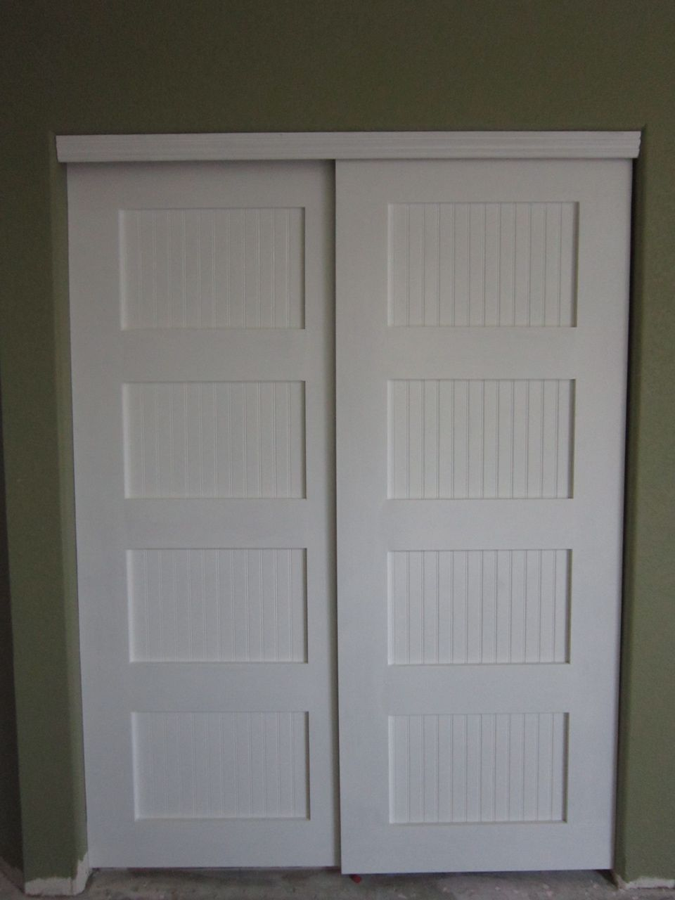 Hallway closet door  Bypass Closet Doors  Bypass Closet Doors  Do It Yourself Home