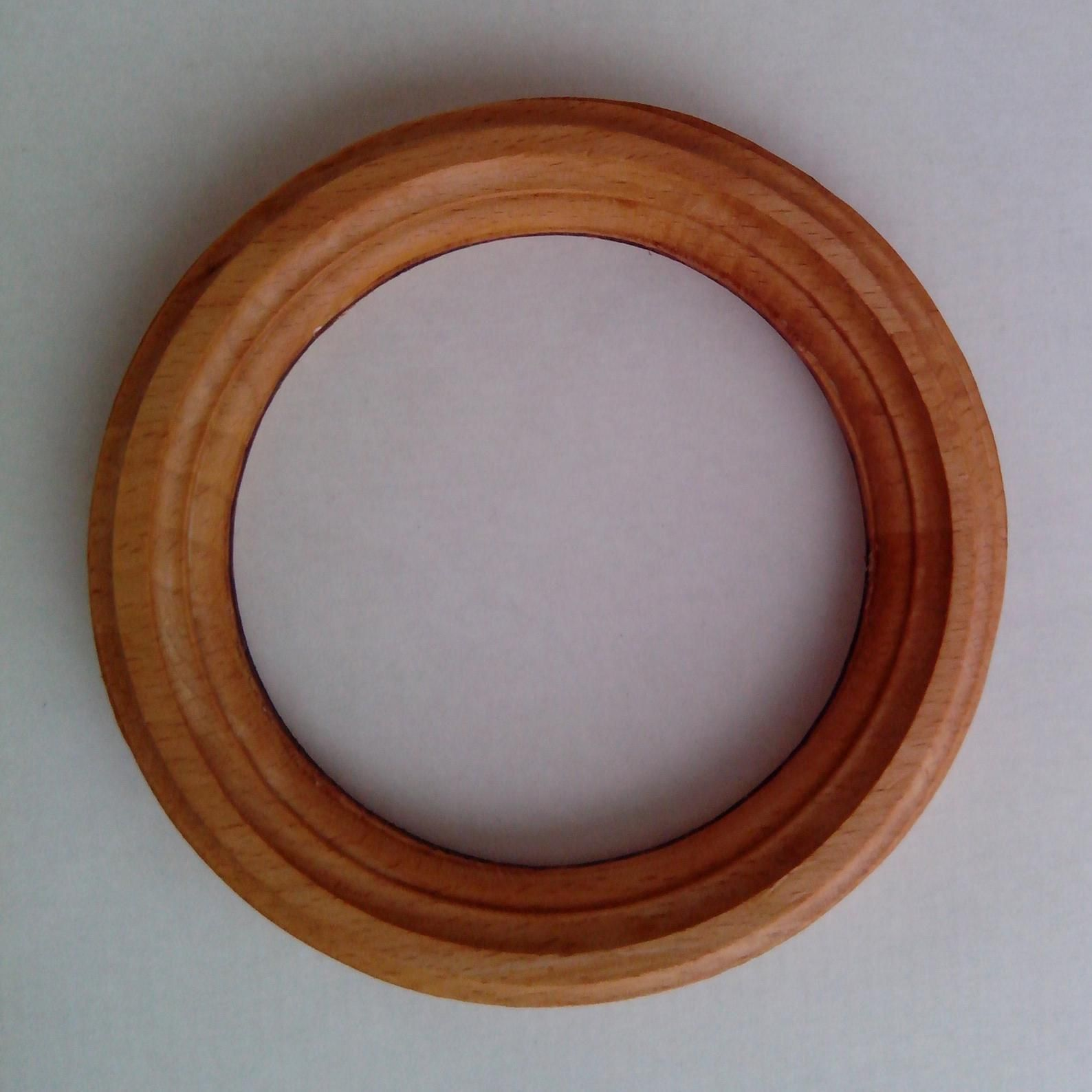Round Wooden Frame 3 5x3 5 Approximate Size Round Circle Etsy