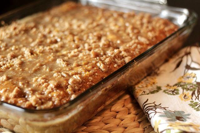 Pumpkin Coffee Cake with Brown Sugar Glaze