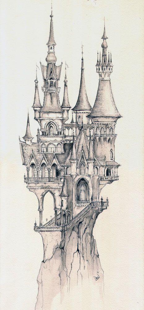 Schlossimpression, Entwurf für Traumflug (Copyright: Efteling) Raddest Menā #castles