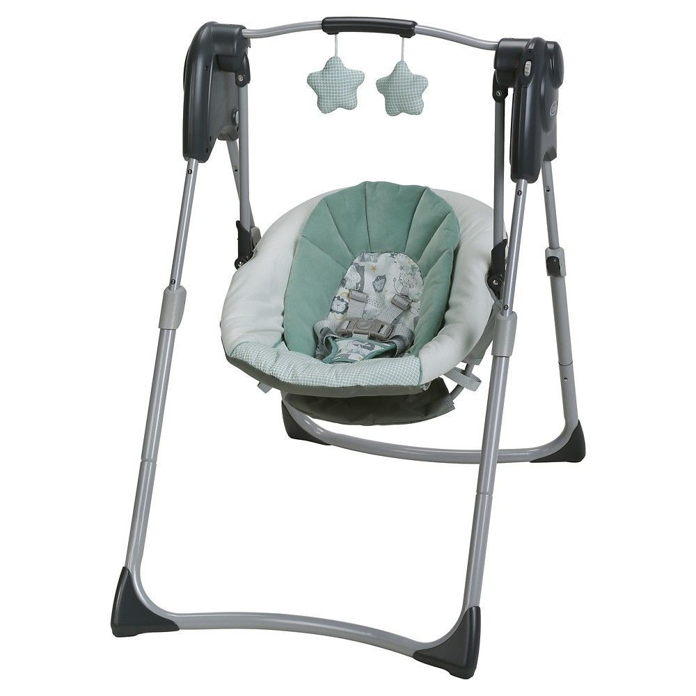 Graco Slim Spaces Compact Baby Swing Lionel Green Baby Swings