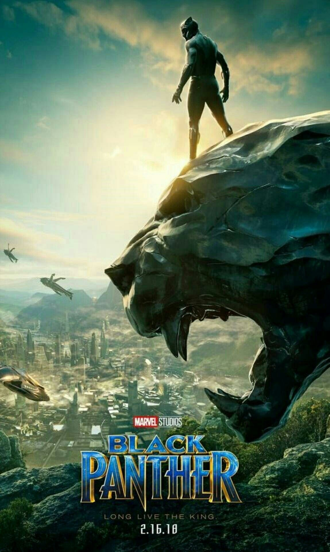 Black Panther Official Movie Poster In 2020 Black Panther Movie