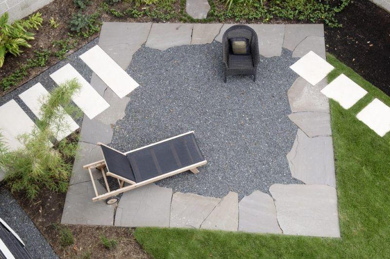 Garten Mit Kies Und Pflastersteinen|Garten Ideen Gestaltung Modern Gartens  Max