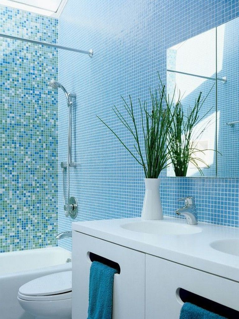 38 Unique Beach Themed Bathroom Design Decor Ideas Blue Bathroom