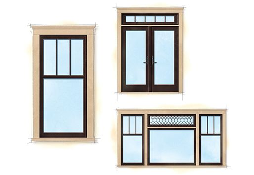 Craftsman bungalow style elements craftsman style homes for Craftsman home windows