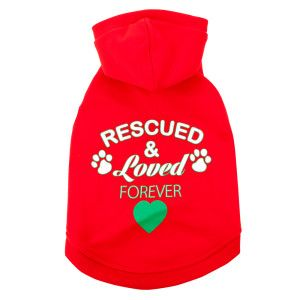 """Perfect for Owen & Brownie!  Luv-A-Pet™ """"Rescued Loved Forever"""" Holiday Hoodie   Sweaters & Coats   PetSmart"""