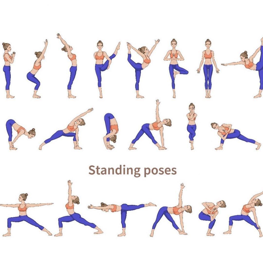 Yoga Pose Standing Poses Standing Yoga Poses Standing Yoga Easy Yoga Workouts