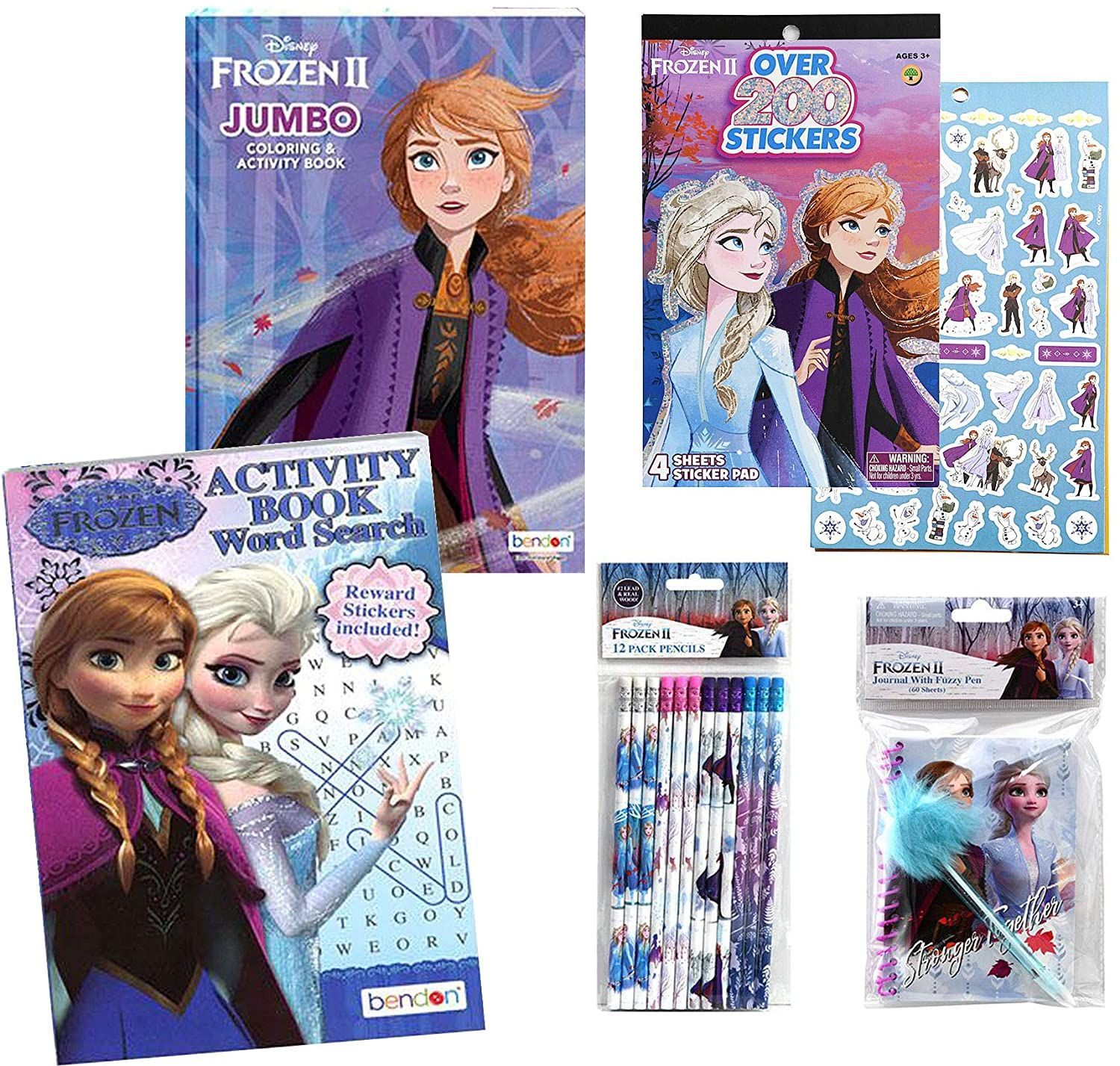 Frozen 2 Activity Set Frozen Activity Book Coloring Book Frozen Stickers Puzzle Book And Diary Coloring Books Coloring Stickers Frozen Coloring