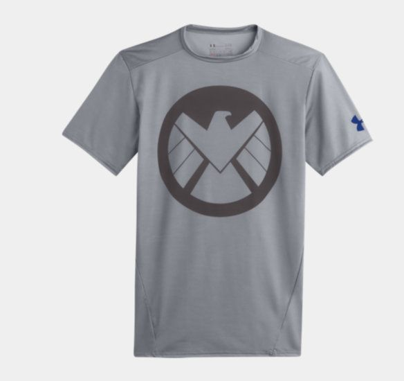 Under Armour CAPTAIN AMERICA CLASSIC LOGO Alter Ego Compression Tee Shirt MEN/'S