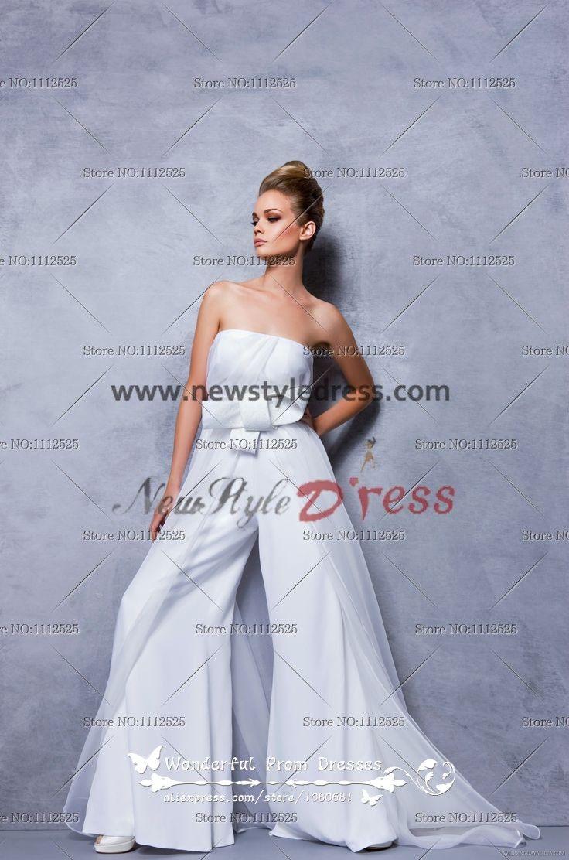 Elegant wedding pant suits - Glamorous Strapless Jumpsuits Fashion Women S Pants Wps 046