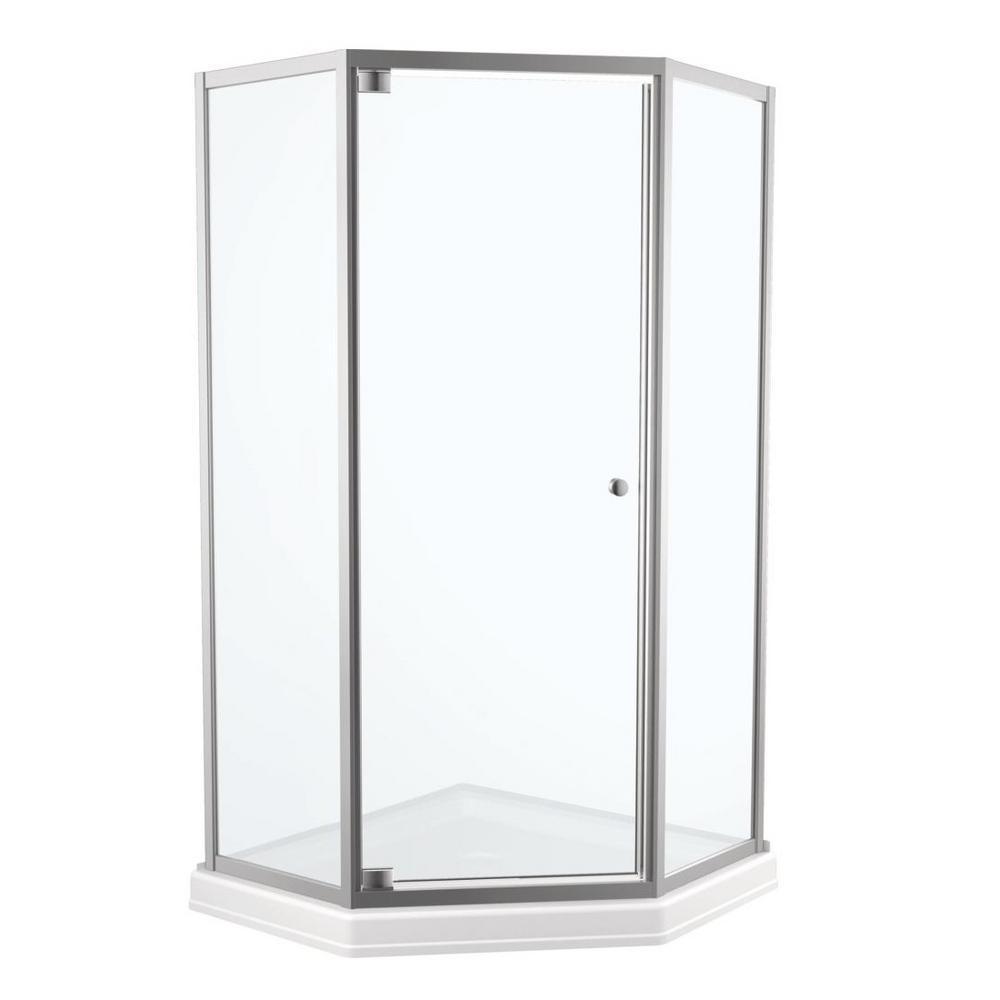 Delta 38 In X 70 In Framed Neo Angle Pivot Shower Door In