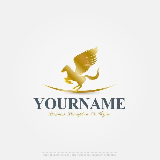 Make Your Own Pegasus logo templates Free with Our Logo