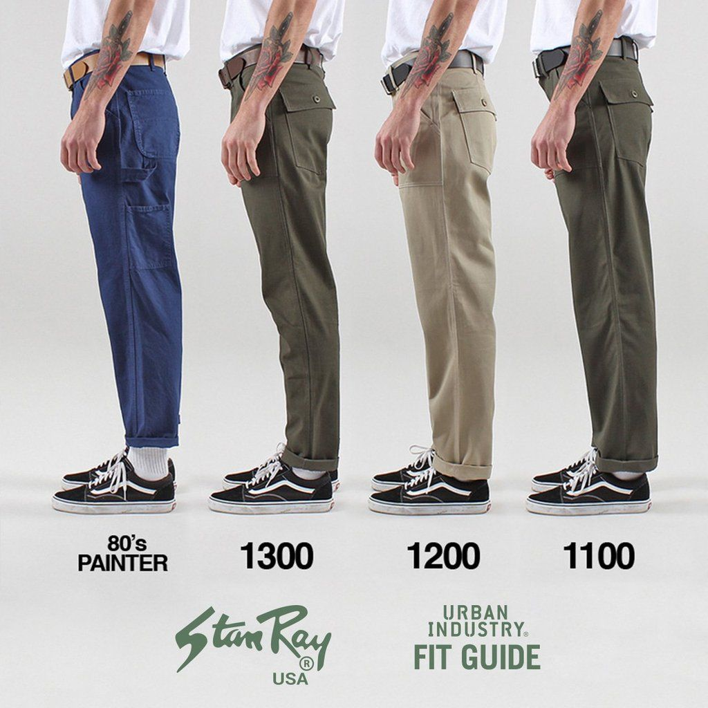 Stan Ray Men/'s New OG Loose Fit Ripstop Fatigue Pants 1100 Series Olive Green