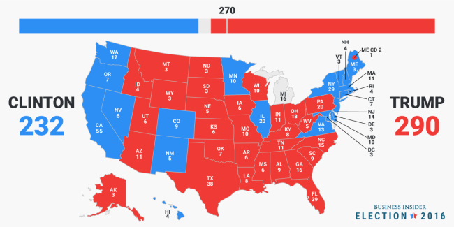 Millions Are Petitioning The Electoral College To Make Hillary - Us electoral interactive map
