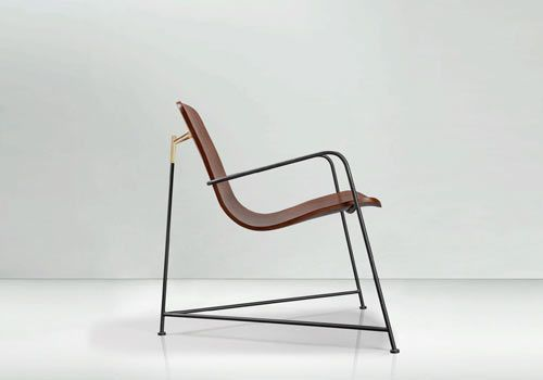 Wang Is A Sleek, Sexy Lounge Chair Thatu0027s A Combination Of Steel And Oak  Laminate