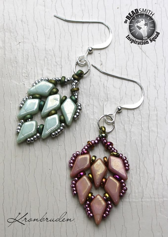 Kite Bead Earrings from Beadsmith Inspiration Squaddie Kerstin Kallin