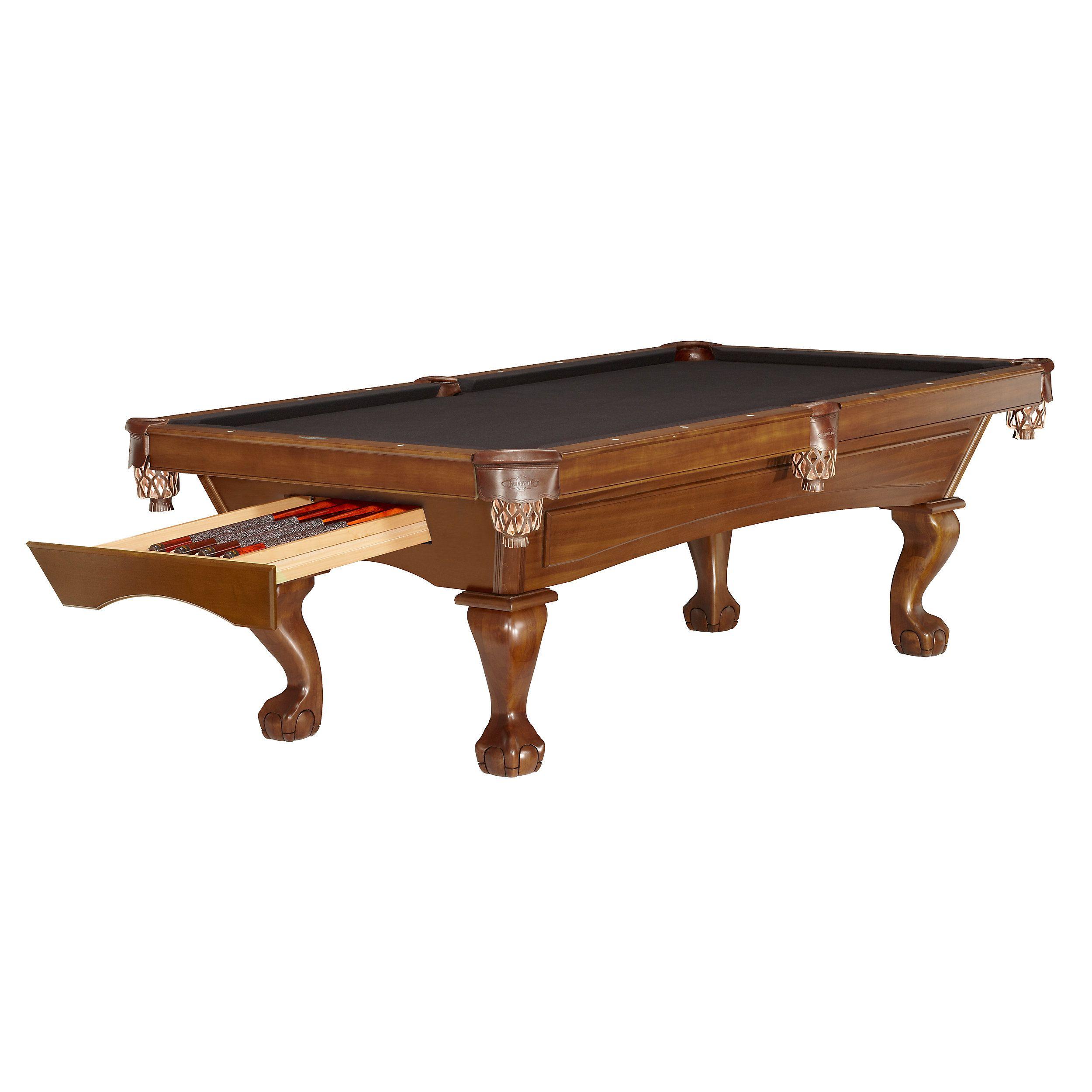 Brunswick Contender Acton Billiard Pool Table Game Room - Pool table storage ideas