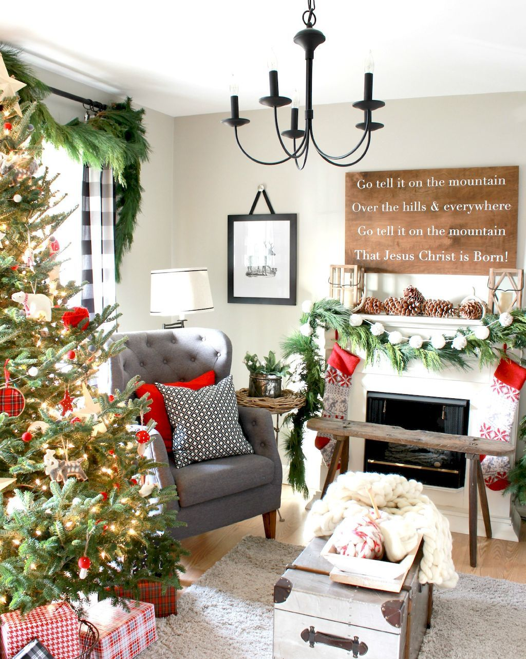 Home interior jesus  comfy farmhouse christmas living room decorating ideas