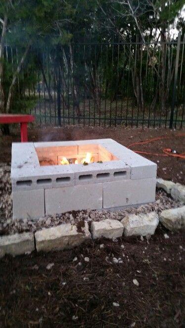 Cinder Block Fire Pit Diy Cinder Block Fire Pit Grill Cinder Block Fire Pit Ideas Cinder Block Fire P Cinder Block Fire Pit Patio Furniture Fire Fire Pit Patio
