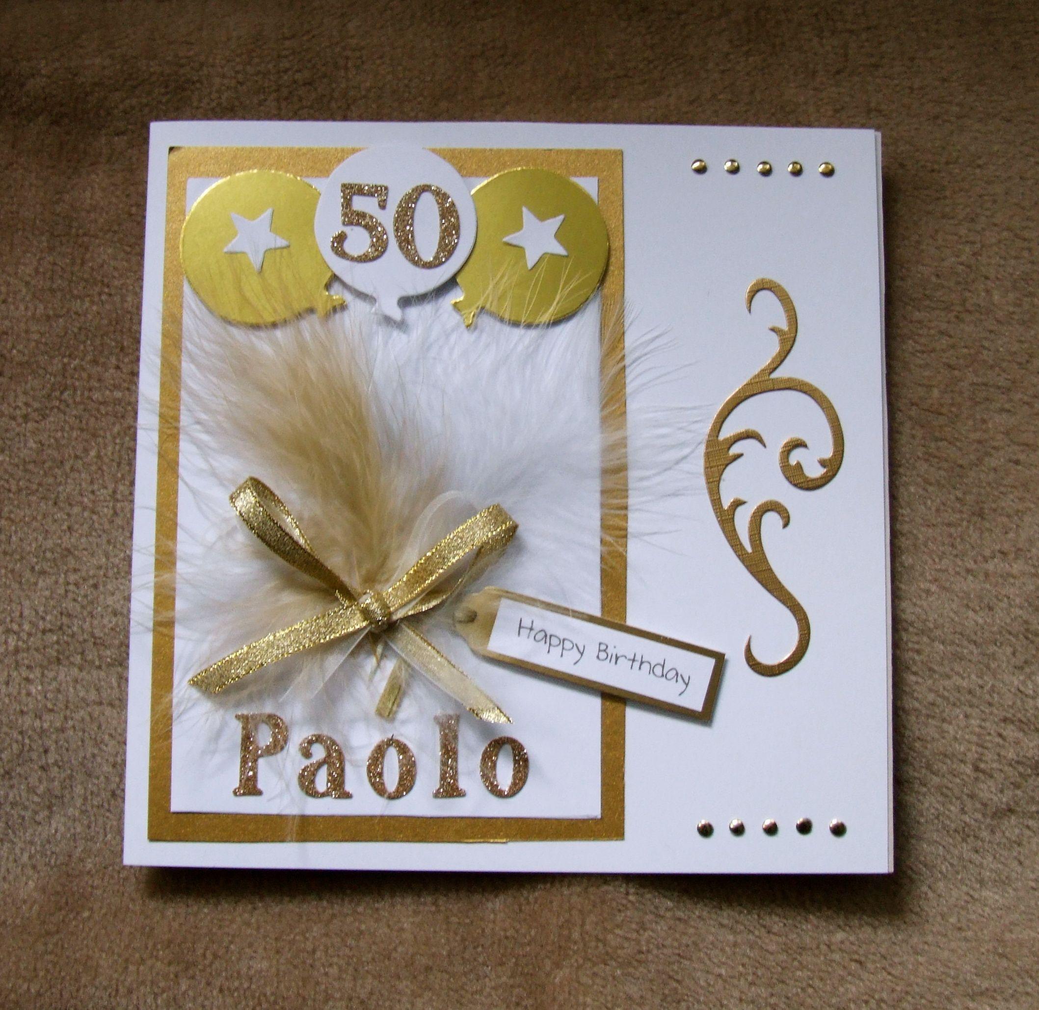 Handmade th birthday card by mandishella a sample of my handmade