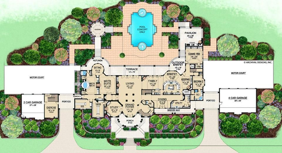 Cartagena House Plan House Plans With Photos Mediterranean House Plans House Plans Mansion