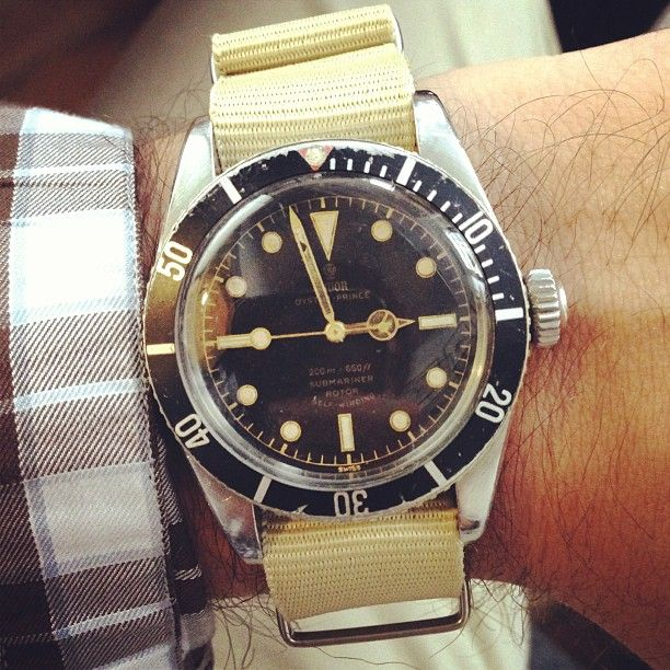 1958 Tudorwatch Submariner Big Crown :: hodinkee