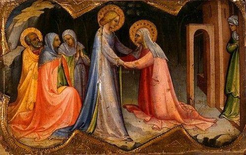 ICONOGRAPHIE CHRÉTIENNE: VISITATION de la TRÈS SAINTE VIERGE MARIE | Vierge  marie, Art chrétien, Vierge