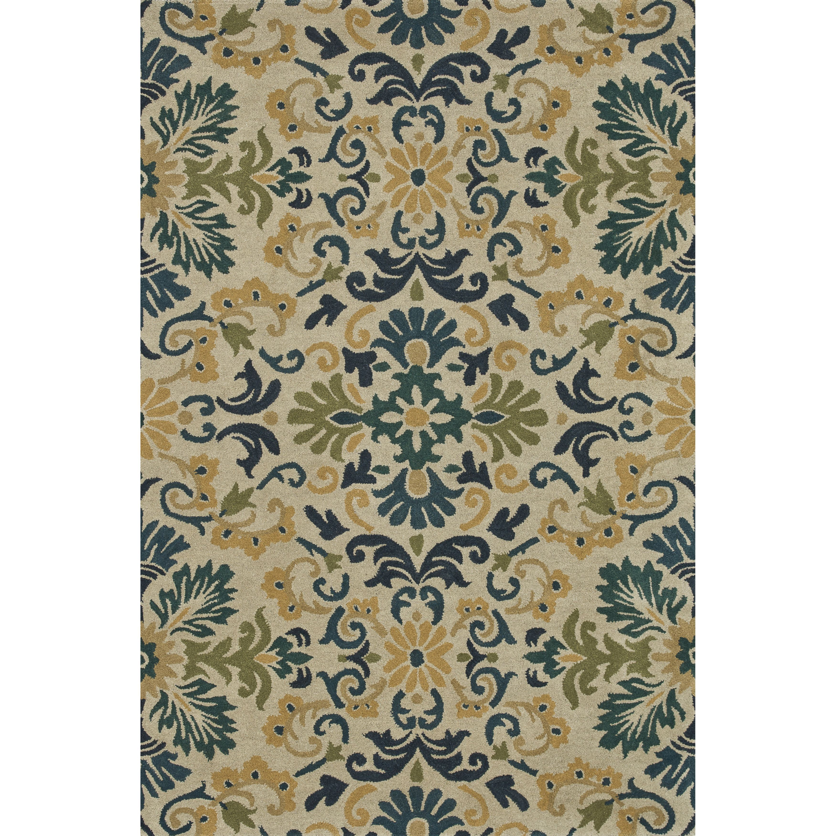 Hand Tufted Wilson Blue Teal Wool Rug Overstock