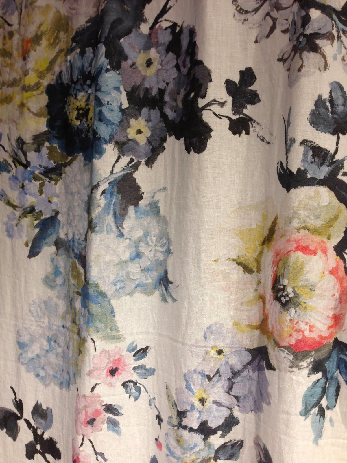 THIS AND THAT Designers guild, Floral curtains, Fabric