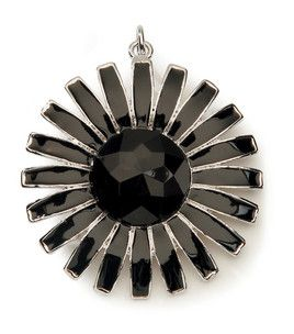 Zinnia Flower Pendant -- from the Noir Collection from Styled by Tori Spelling at Jo-Ann Fabrics...only $5.99!