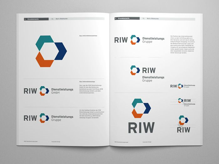 Riw K U00f6ln Corporate Design Manual  With Images