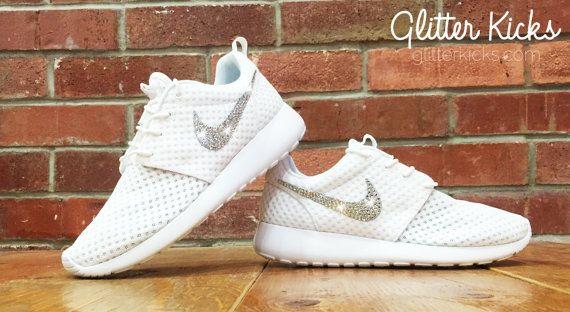 Bling Nike Roshe Run Glitter Kicks Blinged by ShopGlitterKicks ... 190e3efde