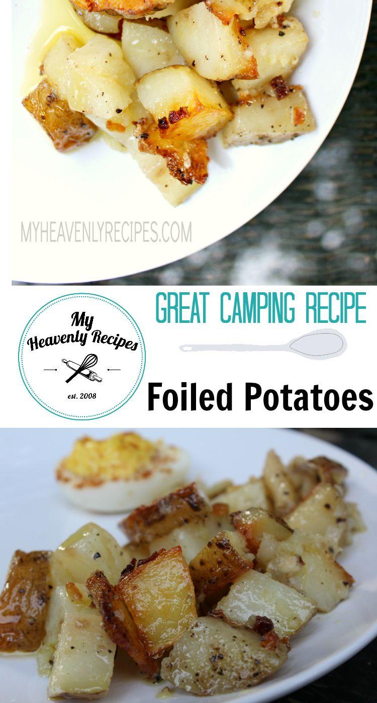Foiled Potatoes A Potato And Onion Recipe My Heavenly Recipes Onion Recipes Foil Potatoes Recipes