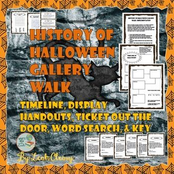 guide your students on a tour of the history of halloween students will walk around the classroom summarizing information that is posted on the walls onto