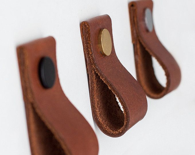 Leather pulls, leather drawer pulls, leather handles, leather knobs ...