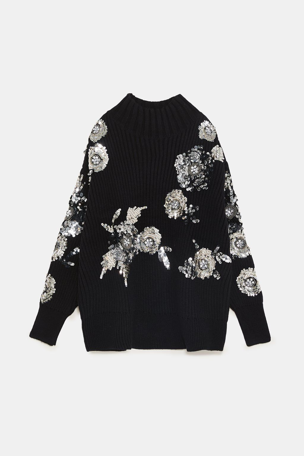 e1372f2f Image 8 of FLORAL SWEATER WITH SEQUINS from Zara   FASHION Party ...