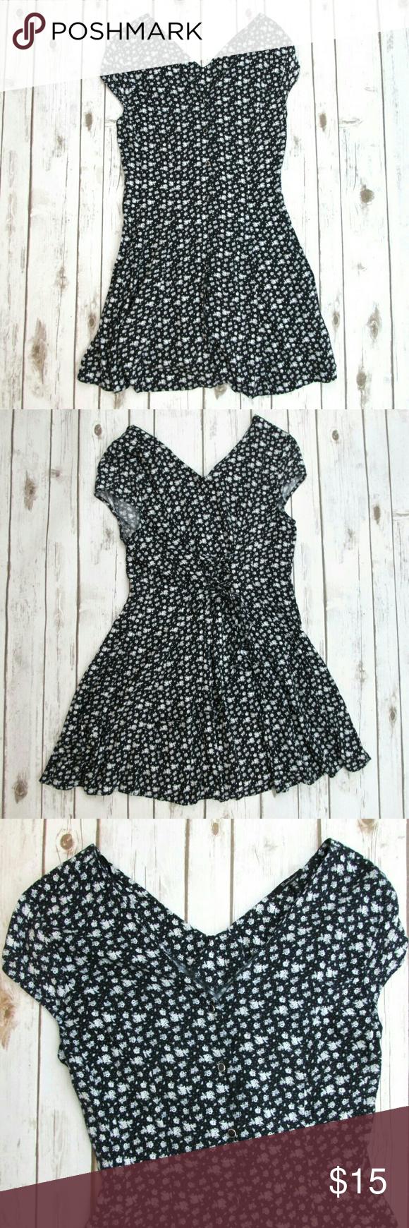Monteau floral print vneck tie back summer dress summer dresses