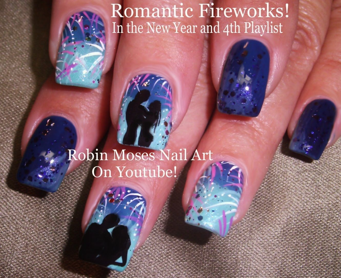 Nail Art Tutorial Diy Romantic Firework Nails 4th Of July Nail