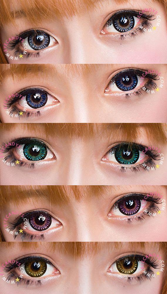 Nonprescription plano colored contacts  Royal Vision Cinderella