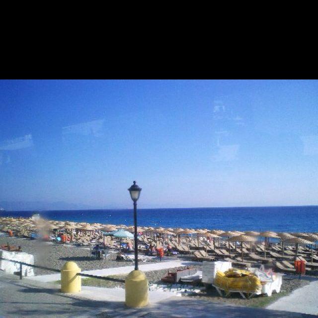 A beach in Rhodes, Greece
