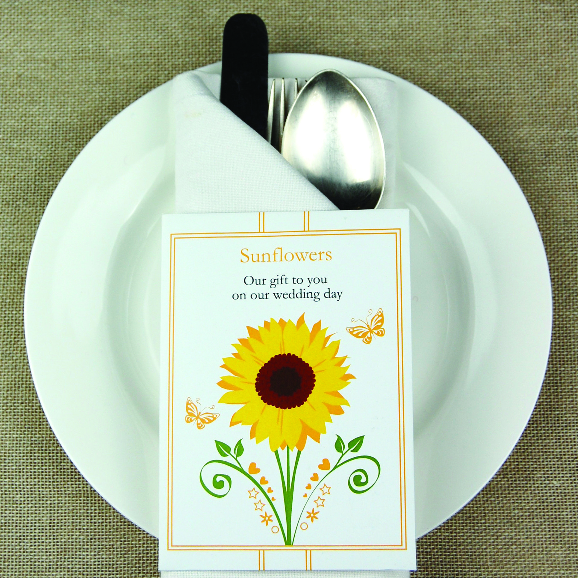 Sunflower seeds wedding favours from cherrygorgeous.co.uk | Love ...