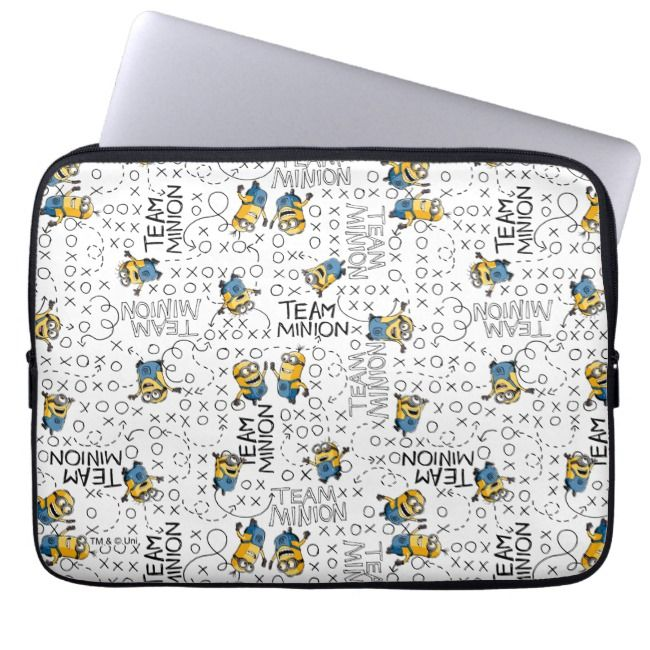 Despicable Me | Team Minion Pattern Laptop Sleeve | Zazzle.com #minionpattern