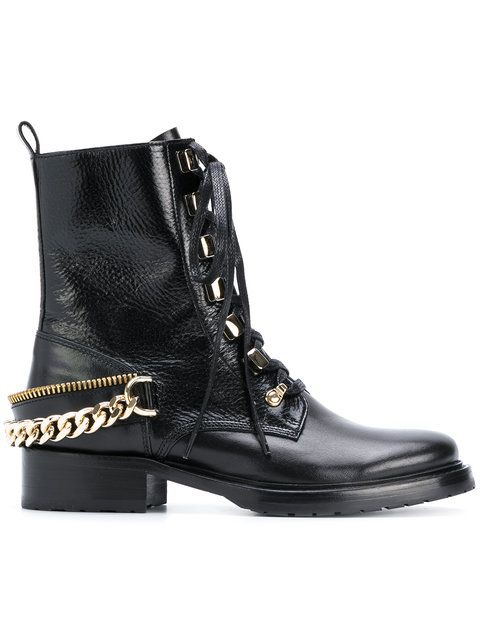 315454b4404 Lanvin chain-embellished combat boots